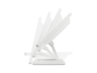 Écran 13 pouces (blanc) - Ajustable réglable pliable