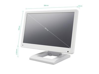 12 Zoll Monitor (Weiß) mit Standfuß